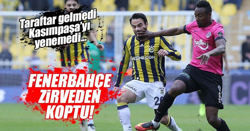 Fenerbahçe zirveden koptu...