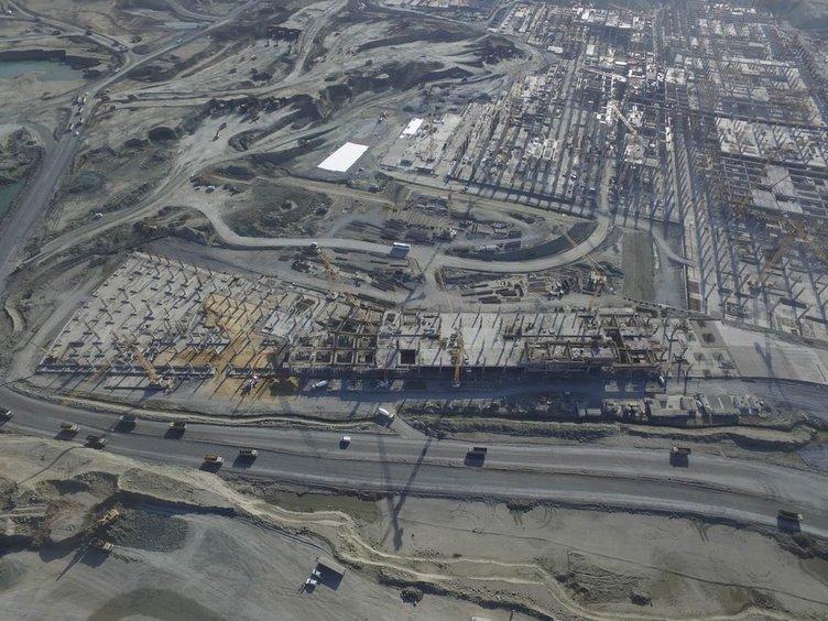 Üçüncü havalimanının yüzde 40'ı tamamlandı