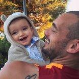 Sneijder'in oğlu Xess Xava 1 yaşında