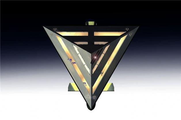 Piramit şeklinde süper yat