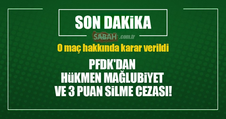 Eskişehirspor hükmen mağlup!