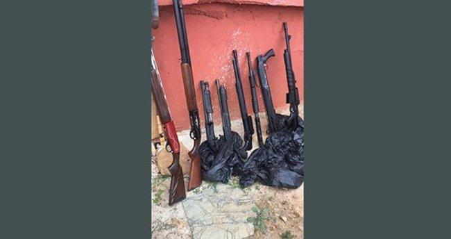 DHKP-C'nin eylemde kullanacağı 8 pompalı tüfek ele geçirildi