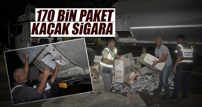 Tankerden 170 bin paket kaçak sigara çıktı