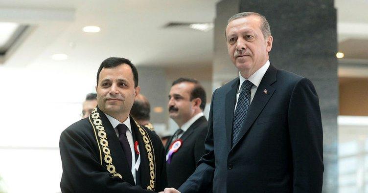Cumhurbaşkanı Erdoğan AYM Başkanı Zühtü Arslan'ı kabul etti