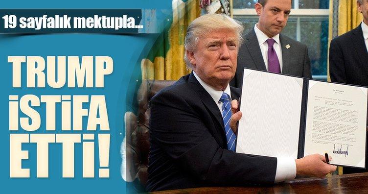 Trump ticari işletmelerinden 19 Ocak'ta istifa etti