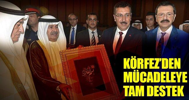 Körfez'den FETÖ ve PKK ile mücadeleye destek
