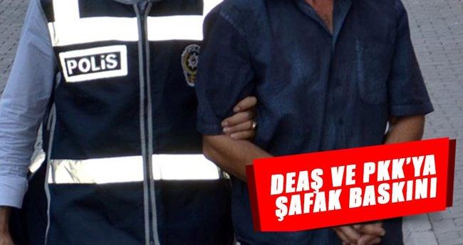 DEAŞ ve PKK'ya şafak baskını