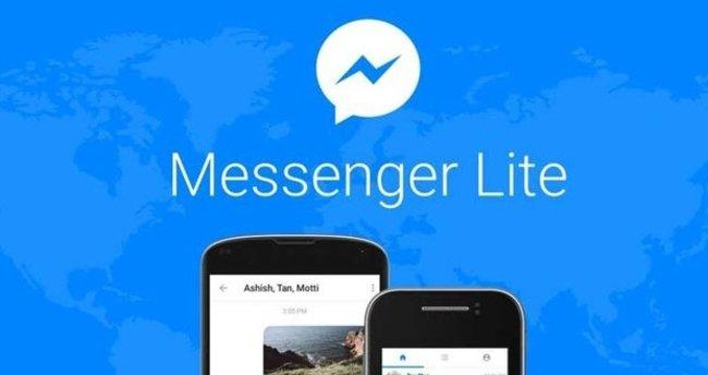 Android telefonlar için Messenger Lite yayında!