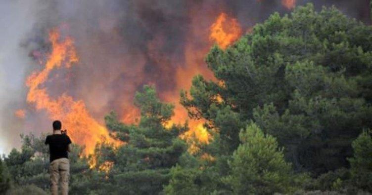 Antalya'da ormanlık alanda yangın!