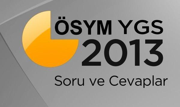 YGS Soru ve Cevapları 2013
