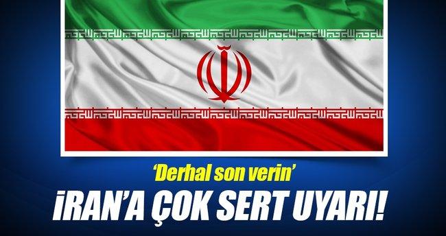 Bahreyn'den İran'a sert uyarı!