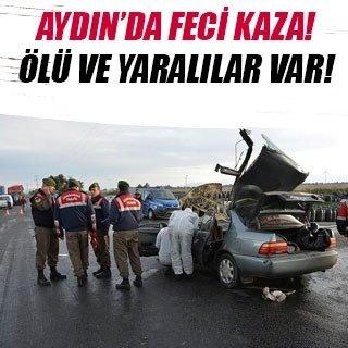 Aydın'da feci kaza: 2 ölü, 3 yaralı