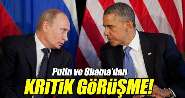 Obama ile Putin Suriye ve Ukrayna'yı görüştü!
