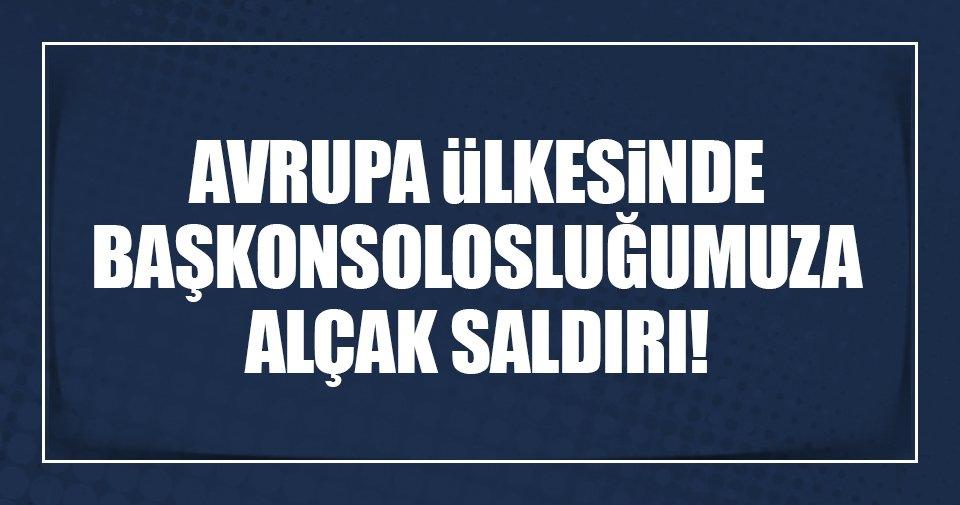 Türkiye'nin Zürih Başkonsolosluğuna saldırı!