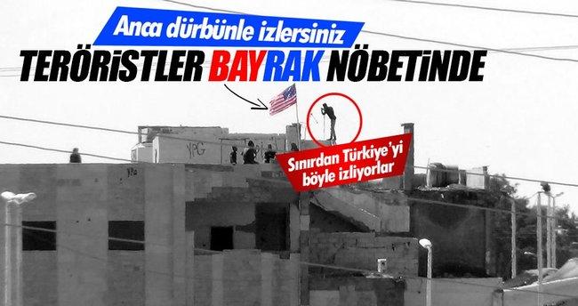 PYD'li teröristler ABDbayrağının altında nöbet tutuyor!