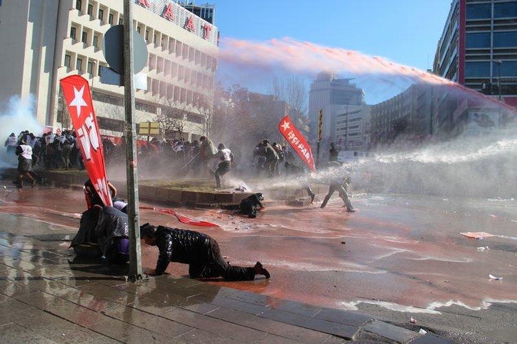 Başkentte gösterici-polis gerginliği