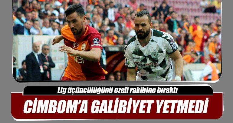 Galatasaray'a galibiyet yetmedi