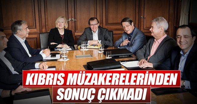 Kıbrıs görüşmelerinde ilerleme sağlanamadı