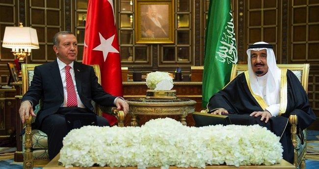 Erdoğan'dan Kral Selman'a telefon