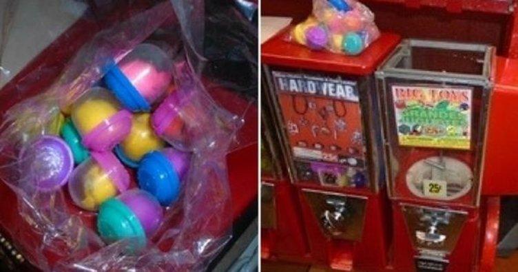 Çocuğuna otomattan oyuncak aldı içinden kokain çıktı!