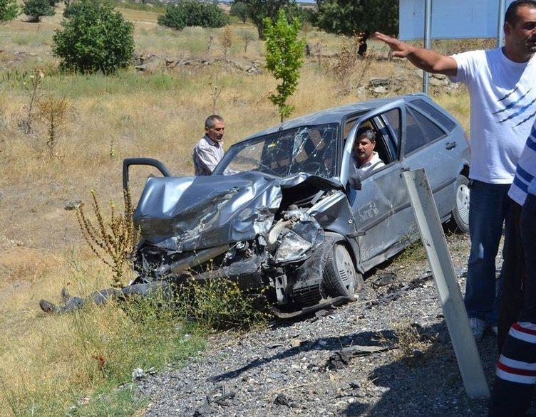 Uşak'ta trafik kazası: 10 yaralı