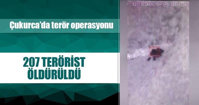 Çukurca'da 3 terörist etkisiz hale getirildi