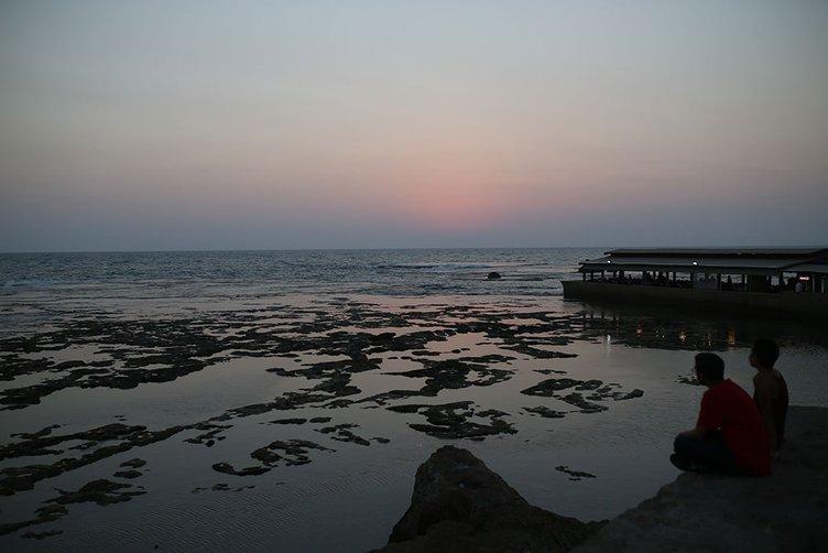 Lübnan'nın liman kenti Biblos'ta gün batımı