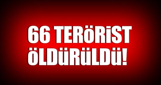 66 terörist etkisiz hale getirildi