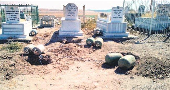 Aile mezarlığına bomba koydular
