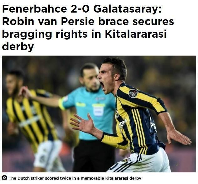 Fenerbahçe'nin derbi zaferi Avrupa basınında da yankı buldu