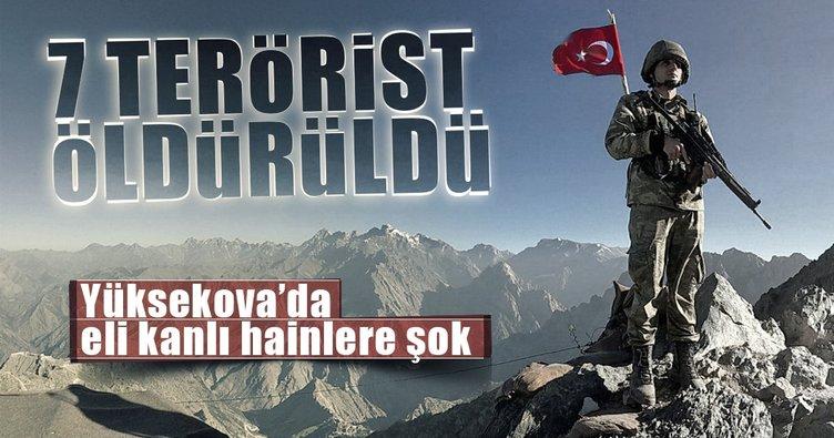 Hakkari'de 7 PKK'lı öldürüldü