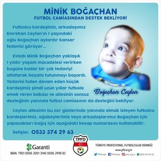 Futbol camiası Boğaçhan için seferber oldu
