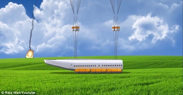 Paraşütlü kabin projesi yolcuları kurtaracak