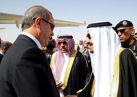 Erdoğan'a görkemli karşılama