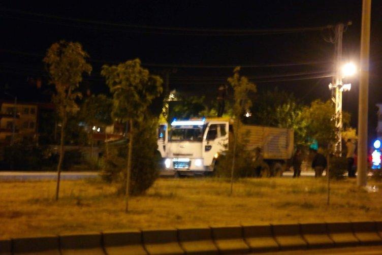 Gasp edilen kamyonla eylem yapmak isteyen PKK, polis engeline takıldı