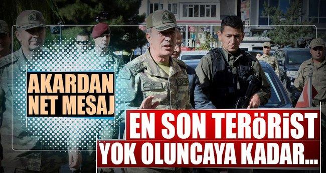 Org. Akar: En son terörist yok oluncaya kadar...
