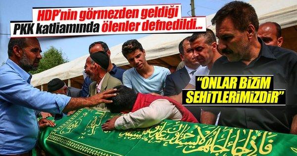 PKK'nın katlettiği köylüler defnedildi