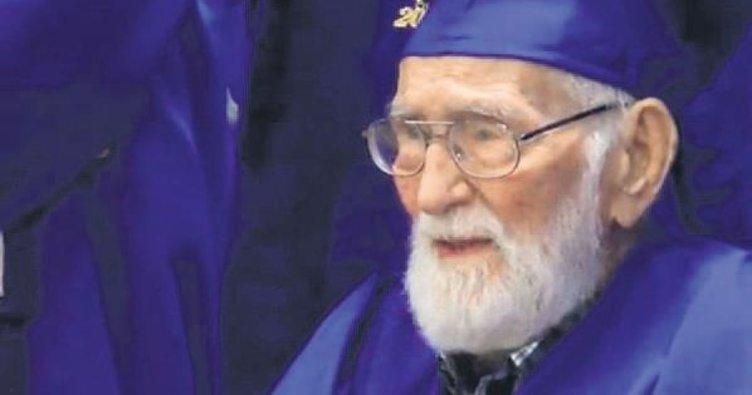 101'inde diploma aldı 'Eğitime devam' dedi