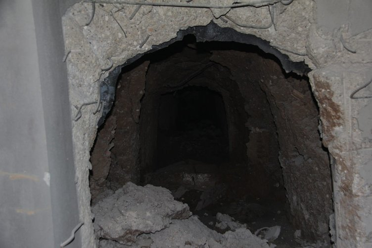 Nusaybin'de PKK'lı teröristler teslim olmadan silahları gömmüşler