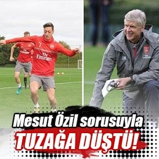 Mesut Özil sorusuyla tuzağa düştü