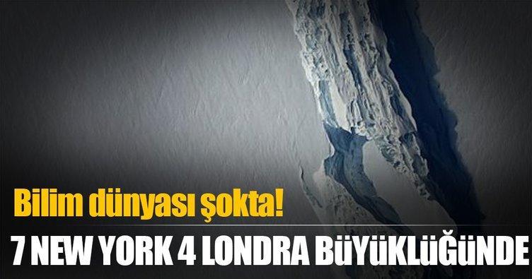 Antarktika'dan trilyon tonluk buz dağı koptu!