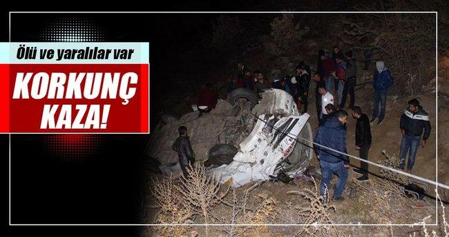 Manisa'da işçi servisi şarampole yuvarlandı: 1 ölü, 14 yaralı