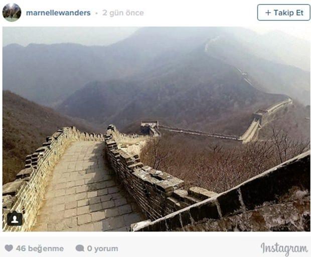 Instagram kurbanı gezginler