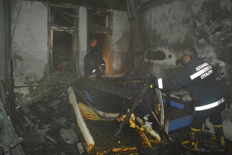 Kız öğrenci yurdunda yangın