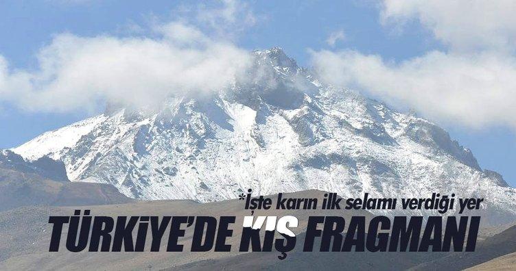 Kış ilk fragmanını yayınladı: Erciyes'e kar yağdı!