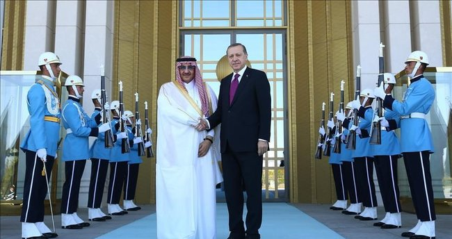 Cumhurbaşkanı Erdoğan, Suudi Arabistan Veliaht Prensi Nayif'i kabul etti