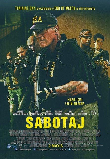 Sabotaj filminden kareler