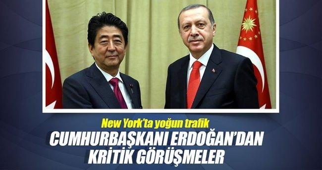 Cumhurbaşkanı Erdoğan'dan önemli görüşmeler