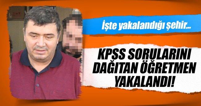 KPSS sorularını dağıtan öğretmen yakalandı