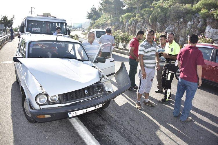 Bordrum'da 19 araç birbirine girdi: 5 yaralı